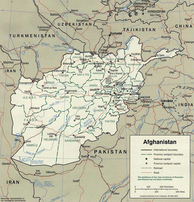 The War On Terrorism - Afghanistan map us