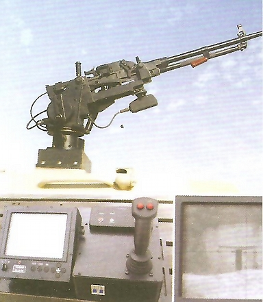 remote controlled machine gun