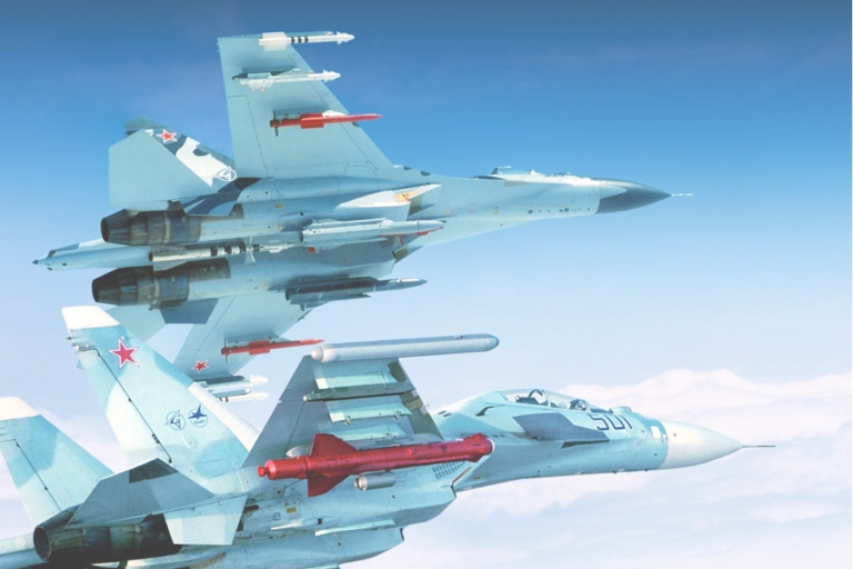 Missile Drawing Sukhoi Flankers - The ...